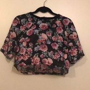 Hm floral crop top